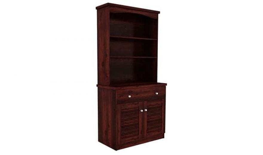 Aelita Kitchen Cabinet (Mahogany Finish)-2