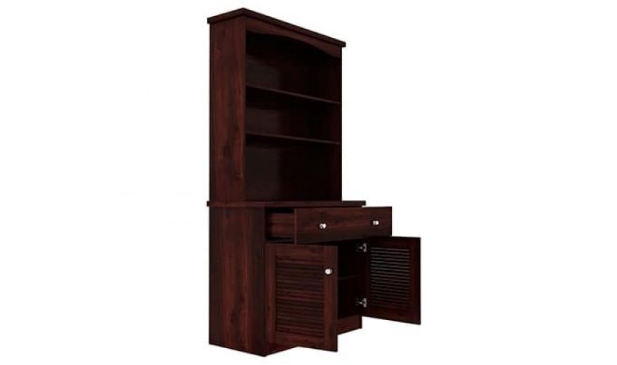 Aelita Kitchen Cabinet (Mahogany Finish)-5