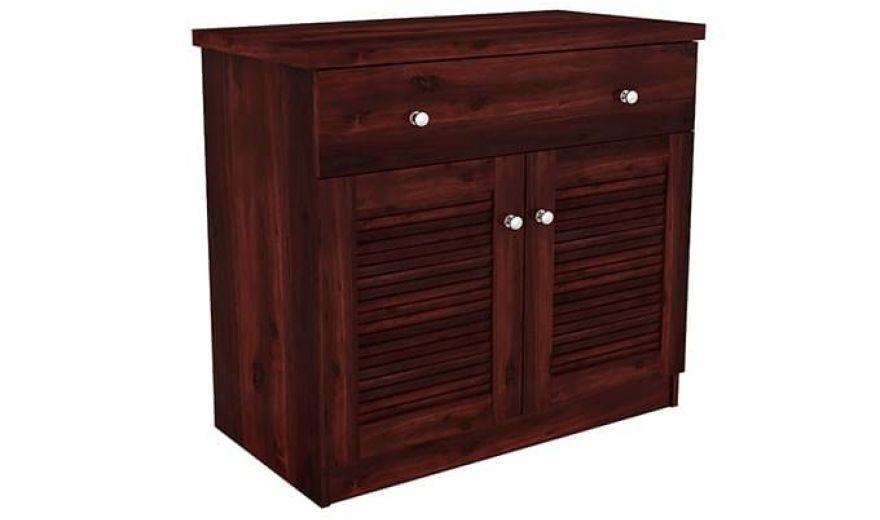 Aelita Kitchen Cabinet (Mahogany Finish)-8