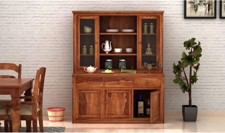 Galla Kitchen Cabinet (Teak Finish)-1