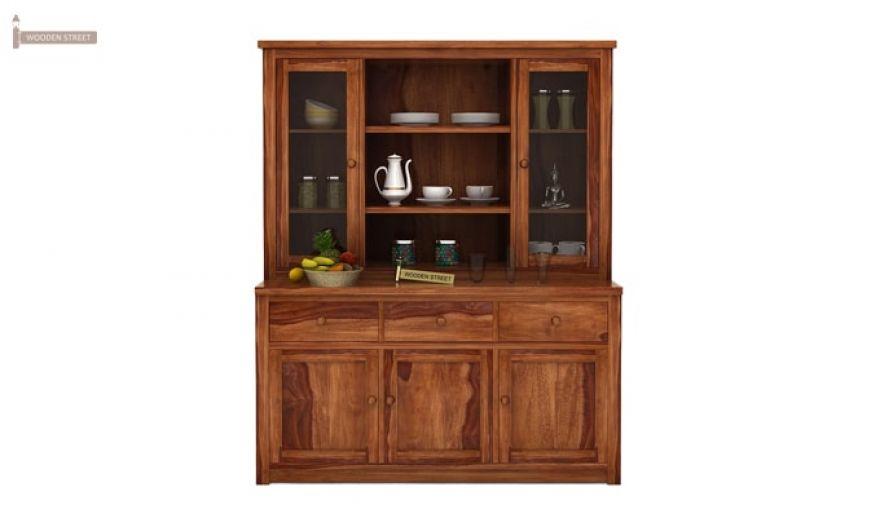 Galla Kitchen Cabinet (Teak Finish)-3