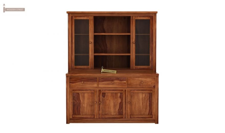Galla Kitchen Cabinet (Teak Finish)-5