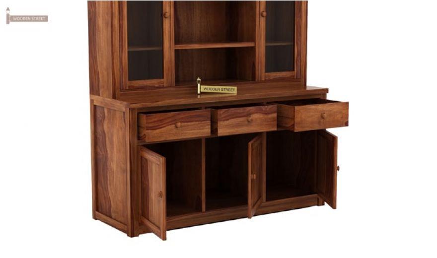 Galla Kitchen Cabinet (Teak Finish)-6