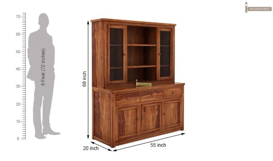 Galla Kitchen Cabinet (Teak Finish)-7