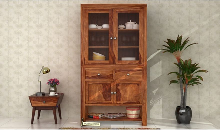 Maglory Kitchen Cabinet (Teak Finish)-1