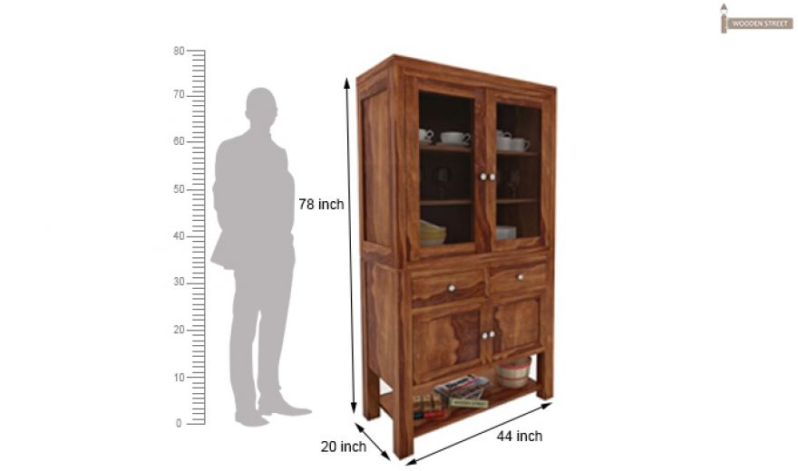 Maglory Kitchen Cabinet (Teak Finish)-4