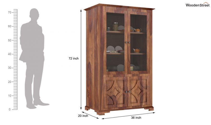 Martin Double Door Crockery Unit (Teak Finish)-6