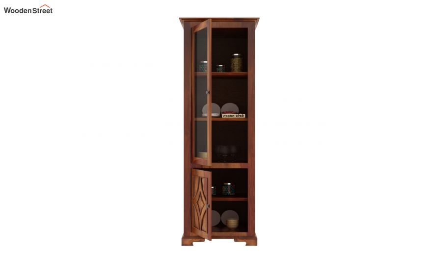 Martin Single Door Crockery Unit (Honey Finish)-4