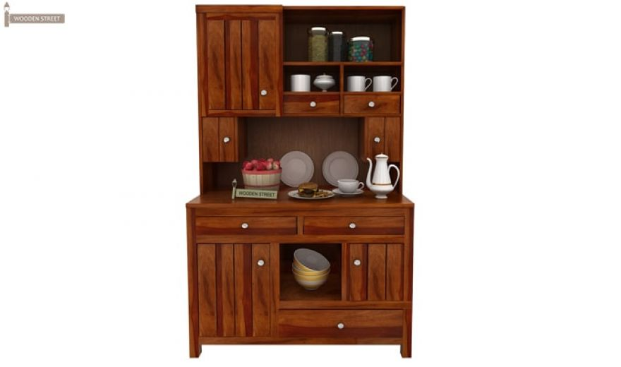 Crestor Kitchen Cabinet (Honey Finish)-2