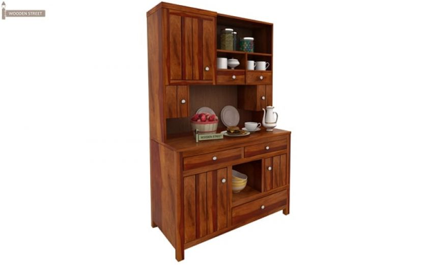 Crestor Kitchen Cabinet (Honey Finish)-3
