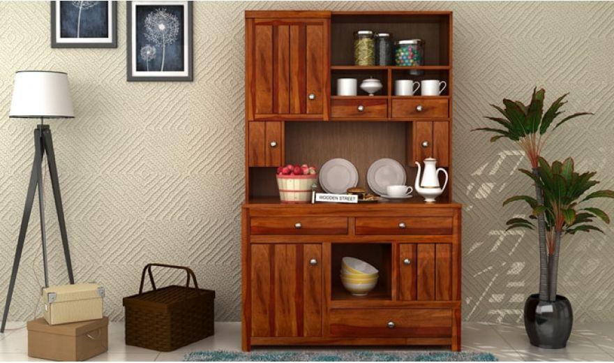 Crestor Kitchen Cabinet (Honey Finish)-1