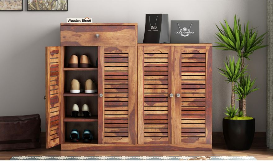 Augur Shoe Rack (Teak Finish)-1