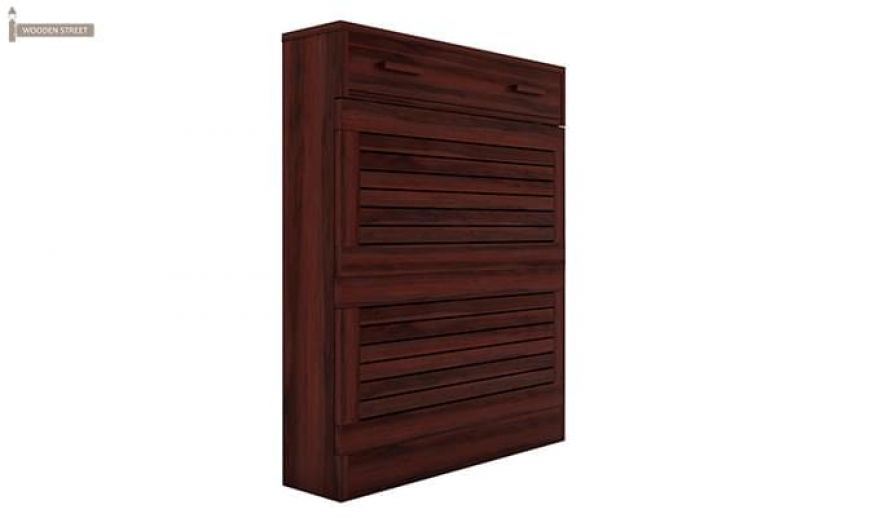 Catlin Shoe Rack (Mahogany Finish)-5