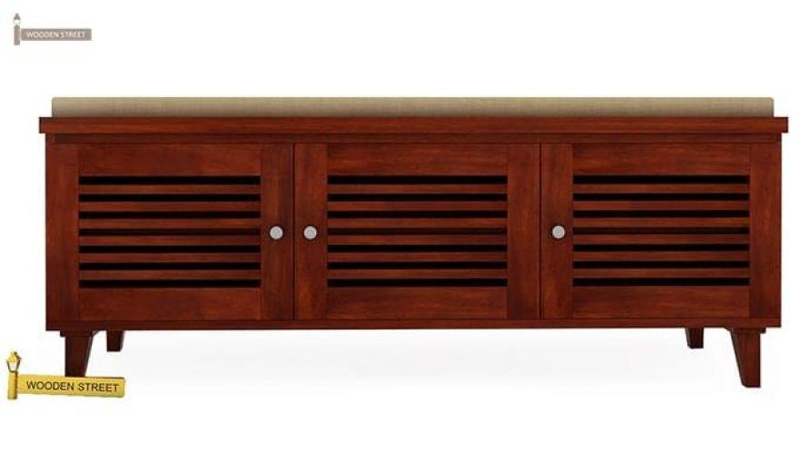 Kathlyn Shoe Cabinet (Honey Finish)-3