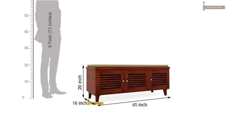 Kathlyn Shoe Cabinet (Honey Finish)-5