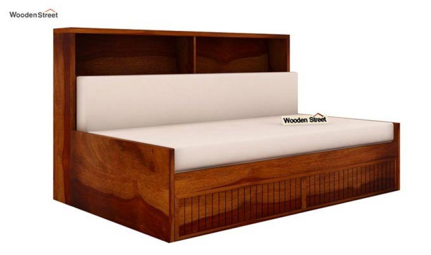 Arley Sofa Cum Bed (Queen Size, Honey Finish)-5