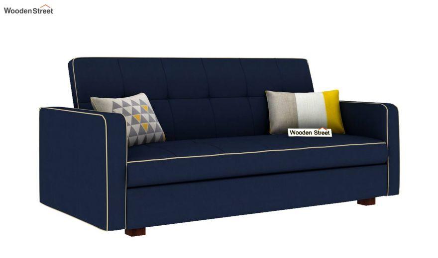 Clarin Fabric Storage Sofa Cum Bed (Indigo Ink)-2