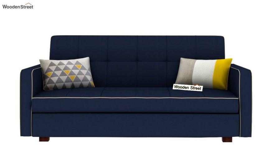 Clarin Fabric Storage Sofa Cum Bed (Indigo Ink)-3