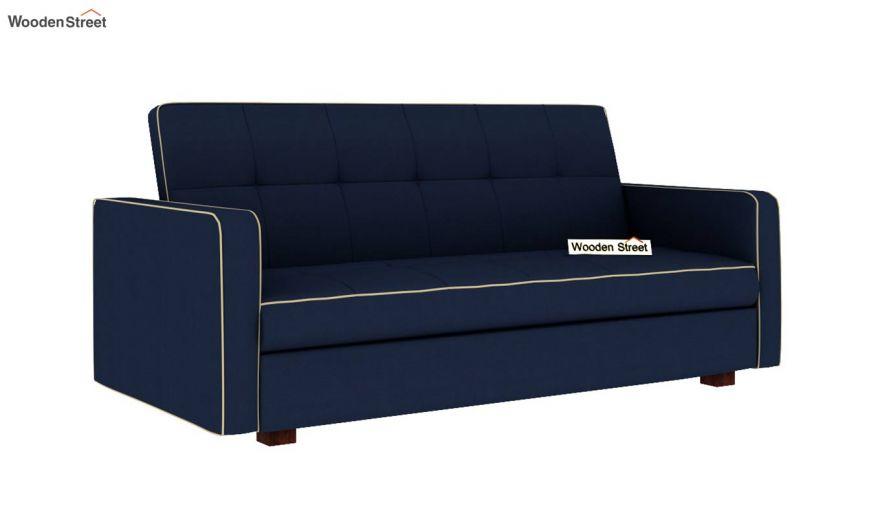 Clarin Fabric Storage Sofa Cum Bed (Indigo Ink)-5