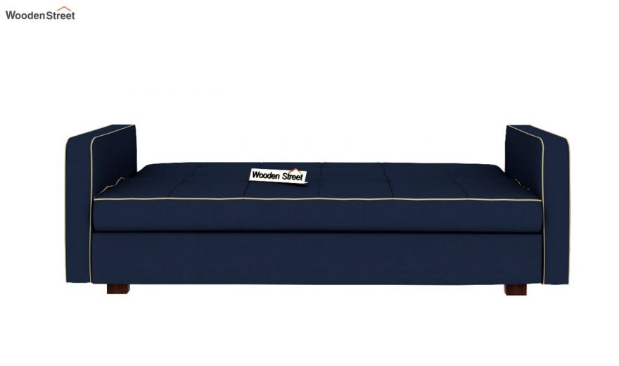 Clarin Fabric Storage Sofa Cum Bed (Indigo Ink)-7