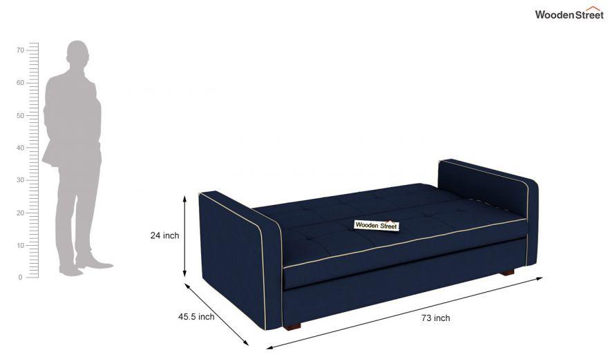 Clarin Fabric Storage Sofa Cum Bed (Indigo Ink)-8