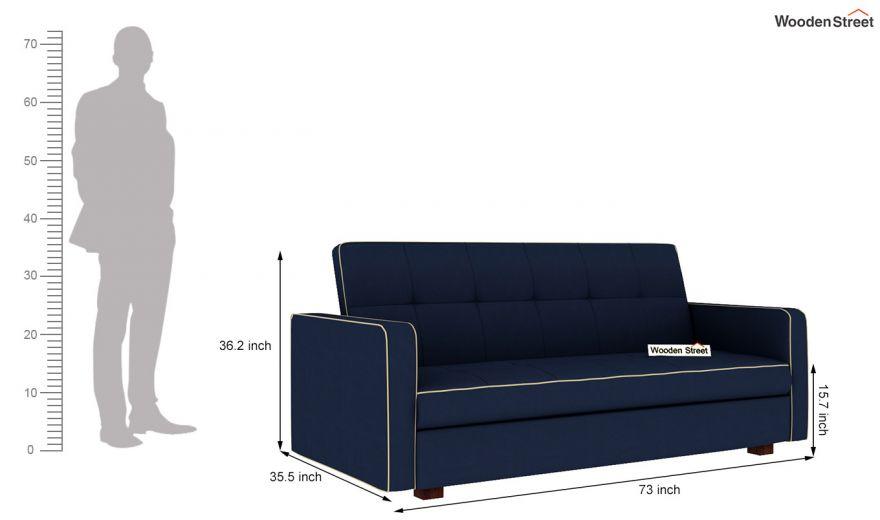 Clarin Fabric Storage Sofa Cum Bed (Indigo Ink)-9