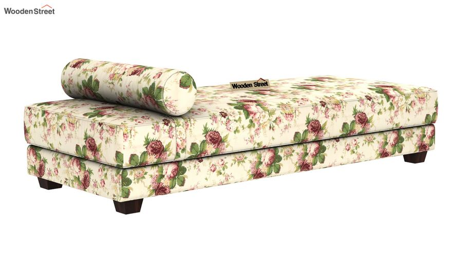 Corvis Fabric Sofa Cum Bed (Cream Blossom)-3