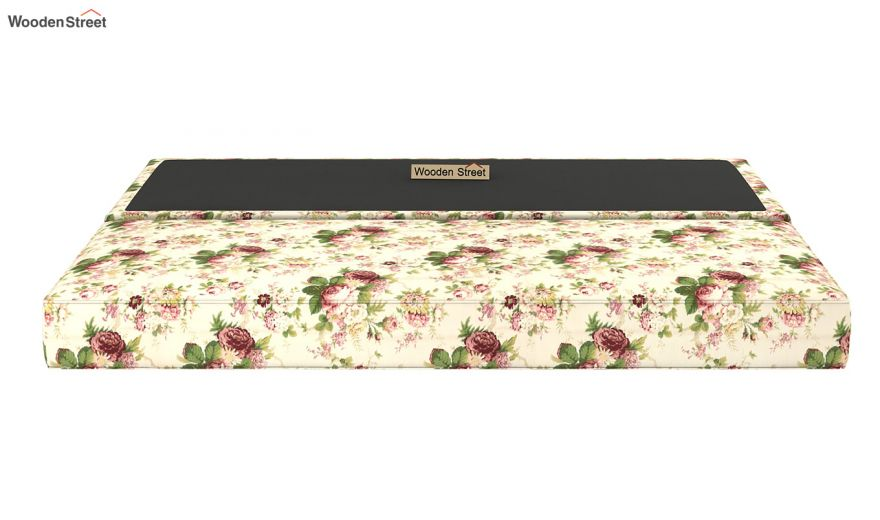 Corvis Fabric Sofa Cum Bed (Cream Blossom)-9