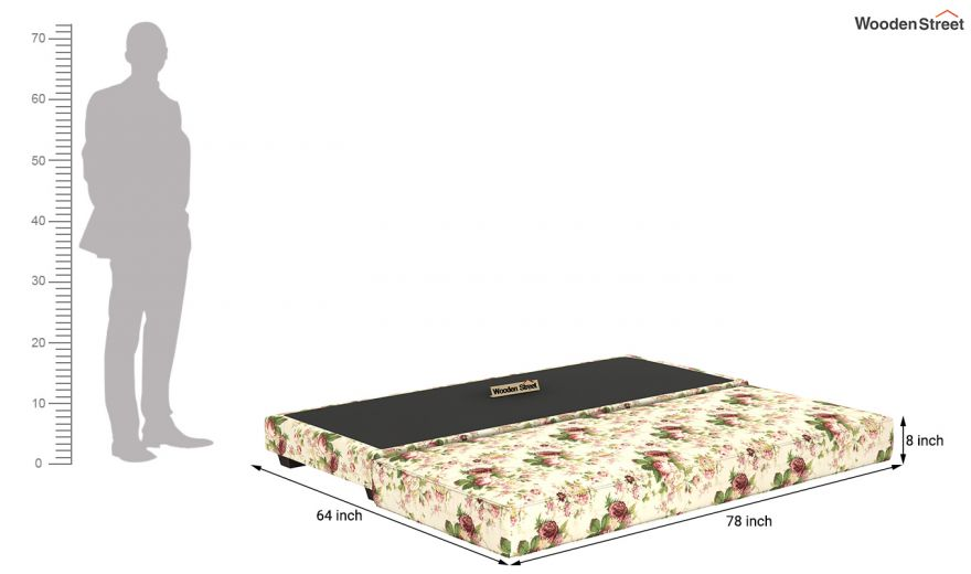 Corvis Fabric Sofa Cum Bed (Cream Blossom)-11
