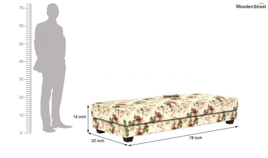 Corvis Fabric Sofa Cum Bed (Cream Blossom)-10