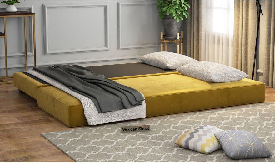 Corvis Fabric Sofa Cum Bed (Chestnut Brown)-1