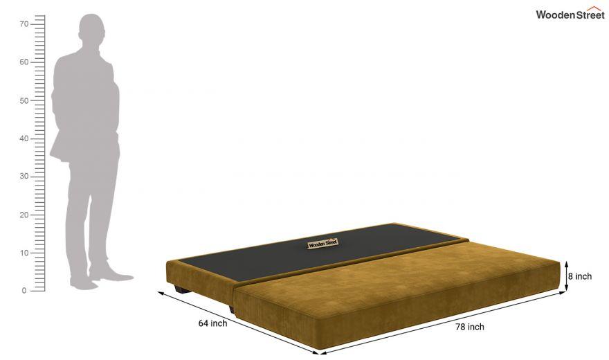 Corvis Fabric Sofa Cum Bed (Chestnut Brown)-11