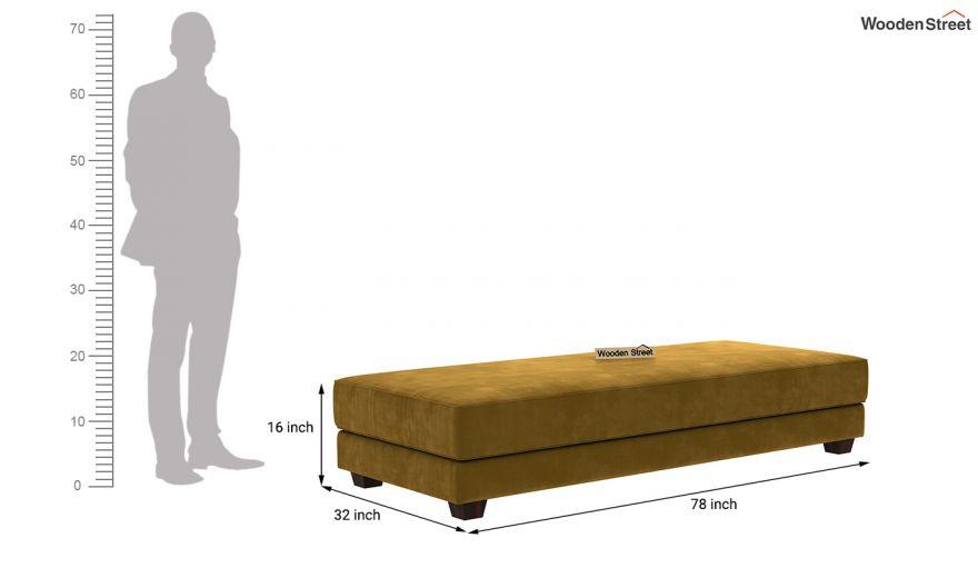 Corvis Fabric Sofa Cum Bed (Chestnut Brown)-10