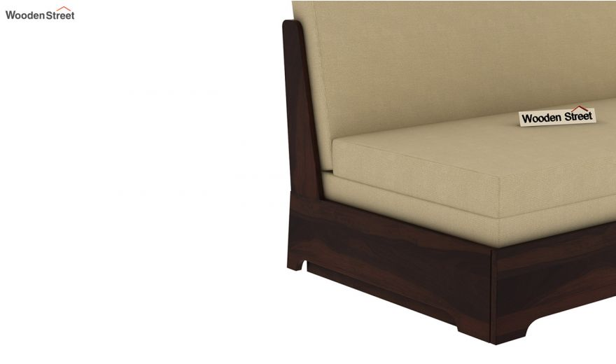 Della Sofa Cum Bed Without Armrests (Walnut Finish)-11