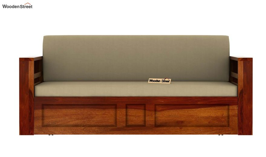 Feltro Bed Cum Sofa (King Size, Honey Finish)-10