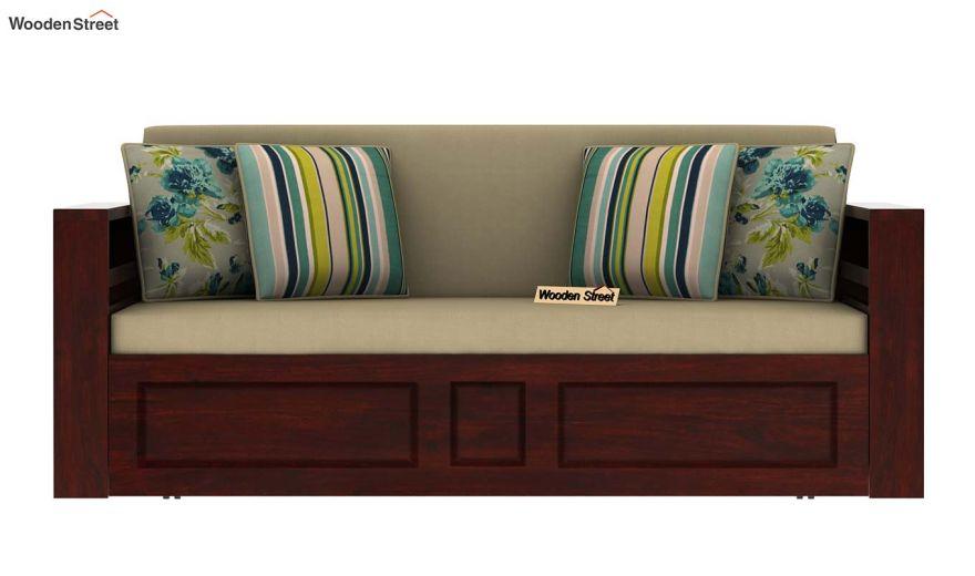 Feltro Bed Cum Sofa (King Size, Mahogany Finish)-4