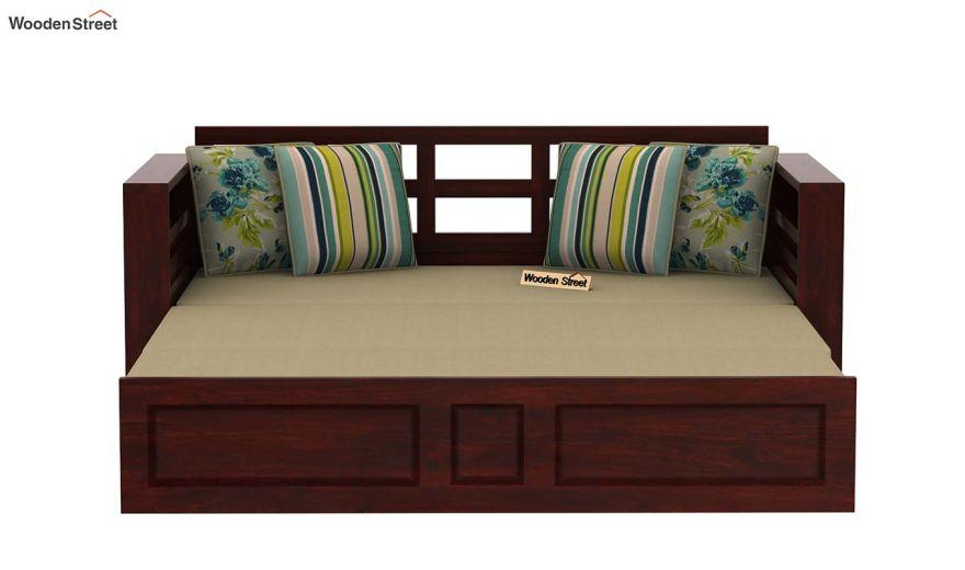 Feltro Bed Cum Sofa (King Size, Mahogany Finish)-8