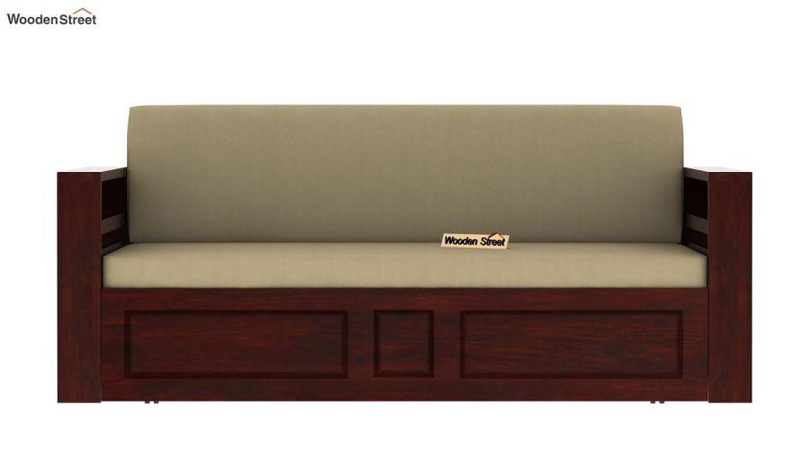 Feltro Bed Cum Sofa (King Size, Mahogany Finish)-10