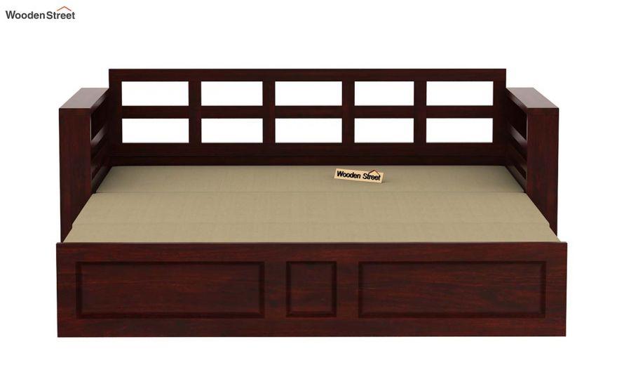 Feltro Bed Cum Sofa (King Size, Mahogany Finish)-11