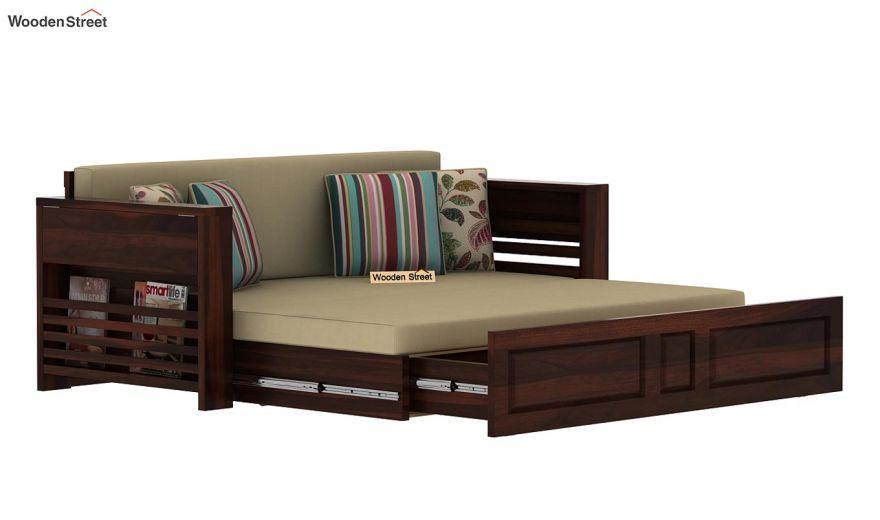 Feltro Bed Cum Sofa (King Size, Walnut Finish)-13