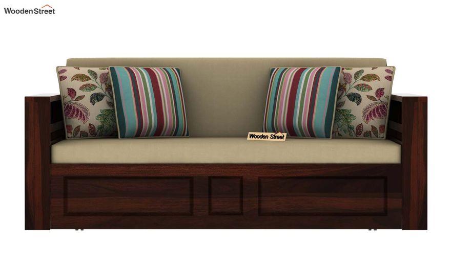Feltro Bed Cum Sofa (Queen Size, Walnut Finish)-4