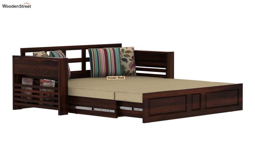 Feltro Bed Cum Sofa (Queen Size, Walnut Finish)-7