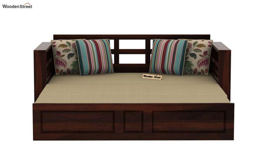 Feltro Bed Cum Sofa (Queen Size, Walnut Finish)-8