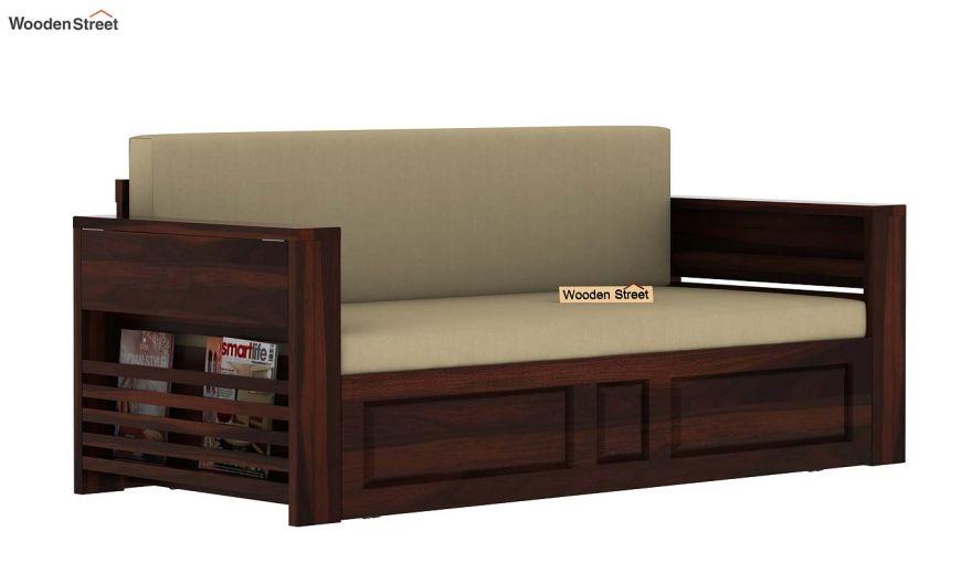 Feltro Bed Cum Sofa (King Size, Walnut Finish)-9