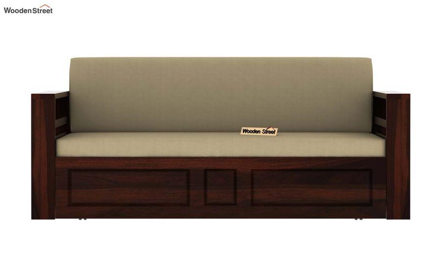 Feltro Bed Cum Sofa (King Size, Walnut Finish)-10