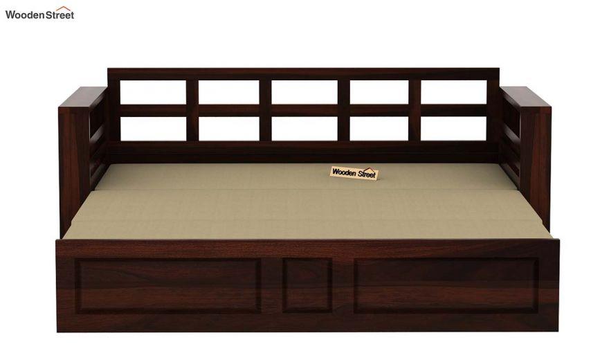 Feltro Bed Cum Sofa (Queen Size, Walnut Finish)-11