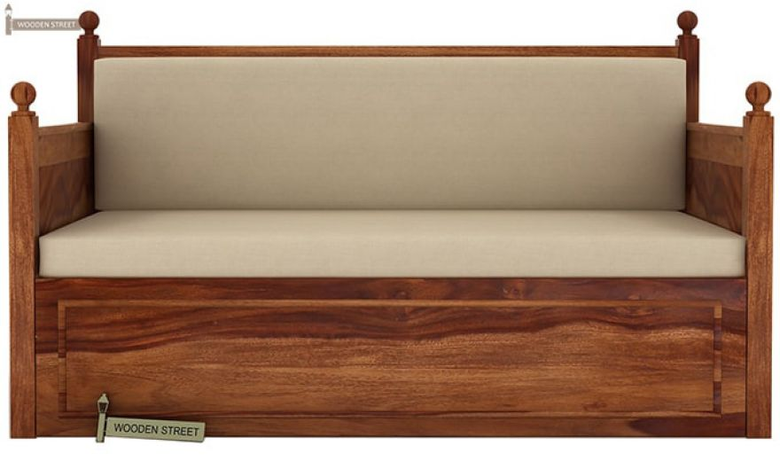 Gerrick Sofa Cum Bed (King size, Teak Finish)-3