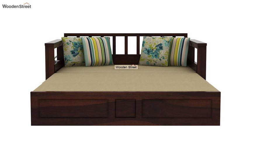 Riota Sofa Cum Bed With Storage (Queen Size, Walnut Finish)-10