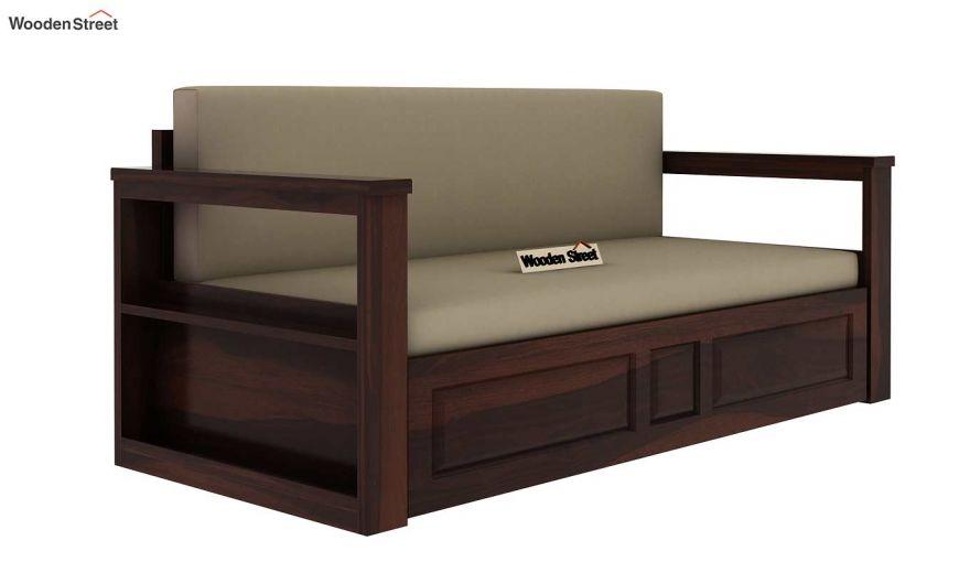 Riota Sofa Cum Bed With Storage (Queen Size, Walnut Finish)-5