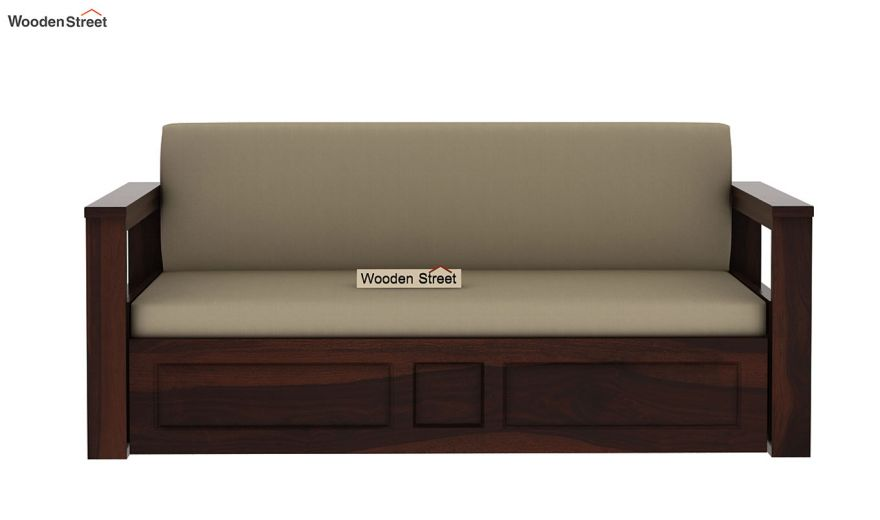 Riota Sofa Cum Bed With Storage (Queen Size, Walnut Finish)-6